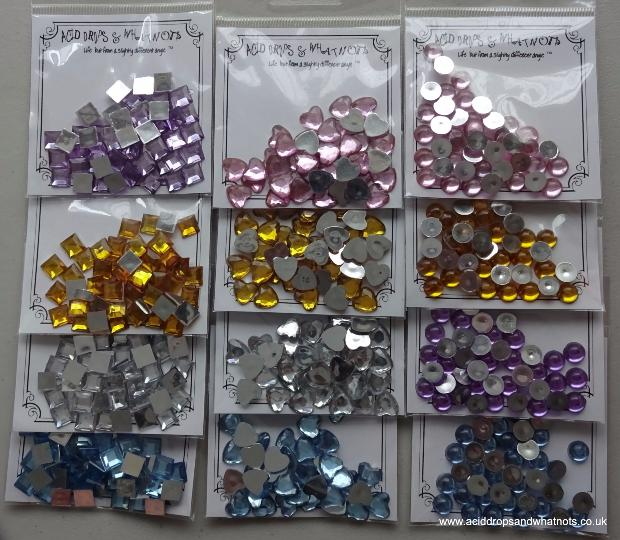 ADGEMS03 Sparkling Whatnots Gem Collection Pastel Colours 12 x 5g
